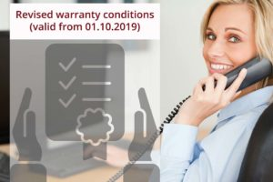 Revised warranty conditions
