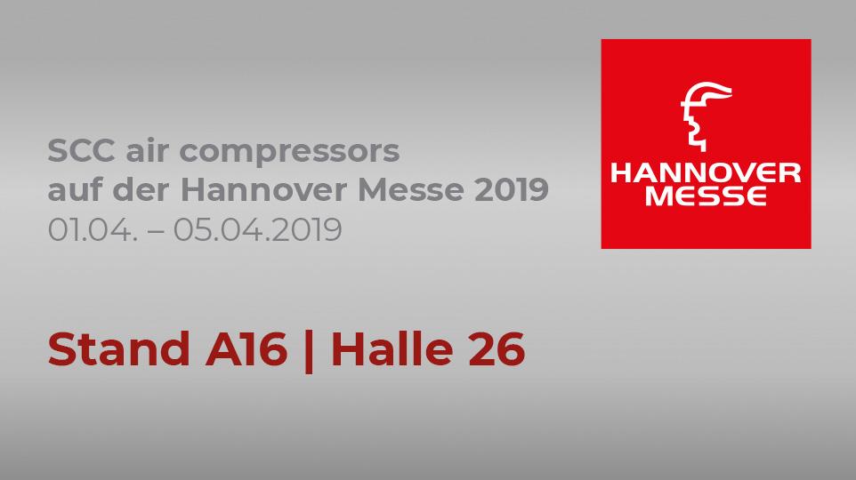 SCC aircompressors auf der Hannover Messe 2019